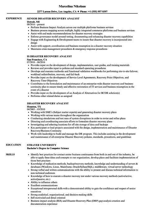 Disaster Recovery Analyst Cover Letter by Sle Child Care Resume Upload Resume To Indeed From Resume Objective Student