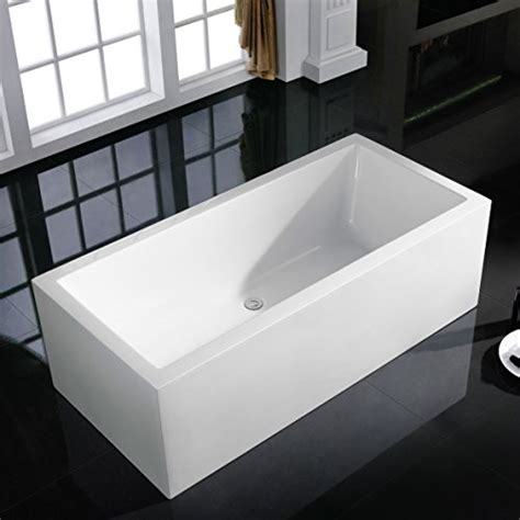 freestanding modern bathtubs maykke moorepark 59 inches modern rectangle acrylic