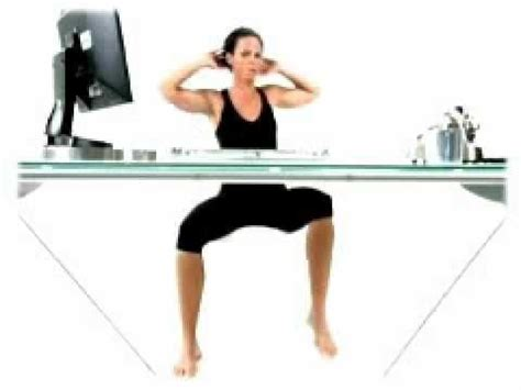 Ab Workout While Sitting At Desk by 12 Best Workplace Workouts Images On