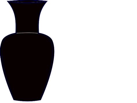 Vase Clipart Black And White by Black Vase Clip Vector Clipart Panda Free