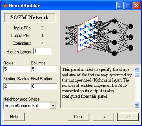 neurosolutions for excel tour create the neural network