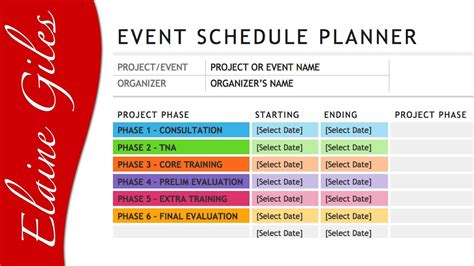 Events Schedule Template by Microsoft Word 2013 Schedule Template