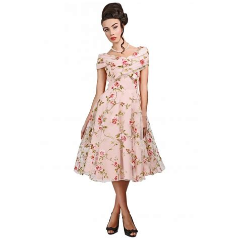 swing dress floral collectif vintage dorothy tulle floral swing dress