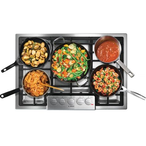 bosch 800 gas cooktop bosch ngm8055uc 800 series 30 quot stainless steel gas cooktop