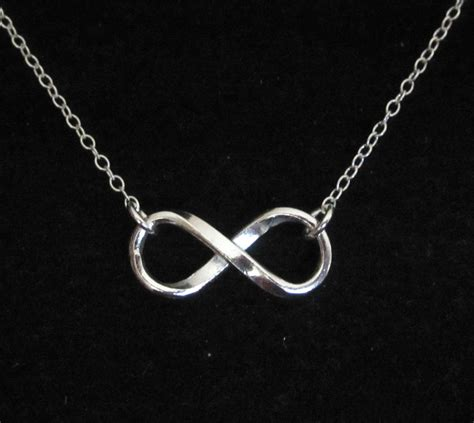 solid sterling silver infinity eternity pendant chain