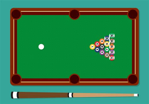 how many balls on a pool table pool stick balls table vector illustration free