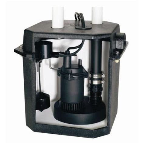 sump kitchen sink drain flotec 6 gal sink tray system with 1 4 hp sump