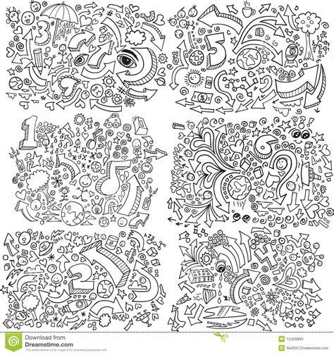 u letter animals set stock vector 169 coffeee in 95723214 doodle sketch vector set stock photos image 12429993