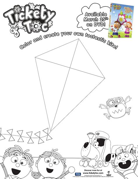 tickety toc colouring page the knit wit by shair