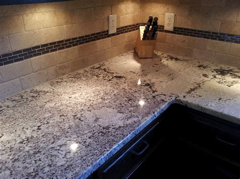 Countertop Joint by This White Glacier Granite Counter Shows How A Seam Joint