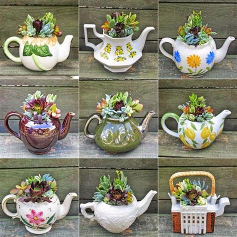Teapot Planters by Start To Grow Teapot Planters