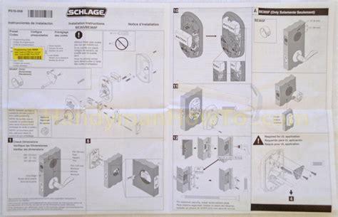 How To Install A Schlage Keypad Deadbolt Deadbolt Installation Template
