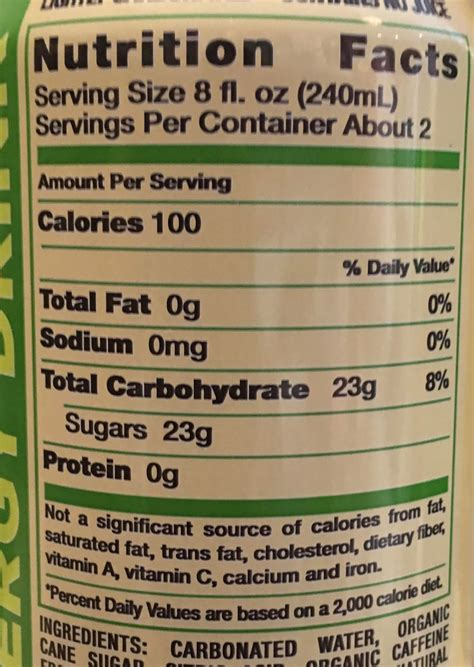 energy drink facts rockstar energy nutrition label related keywords
