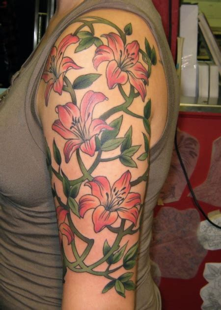 vine sleeve tattoo designs half sleeve vines flower