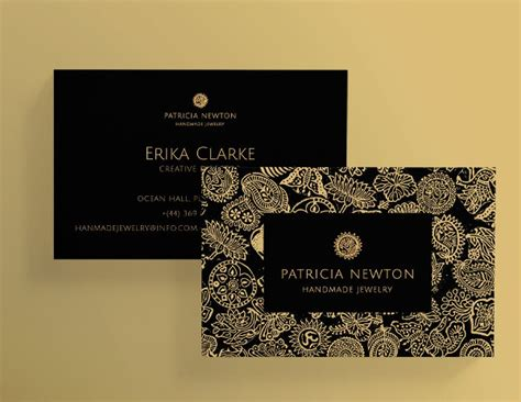 Handmade Jewelry Business Business Card - 27 jewelry business card templates free premium