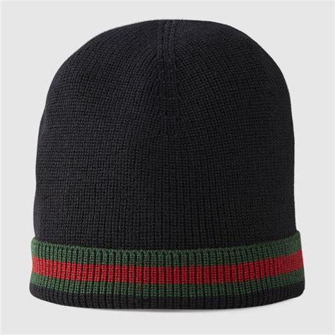 gucci knit hat gucci knit wool web hat 2060854g8691066