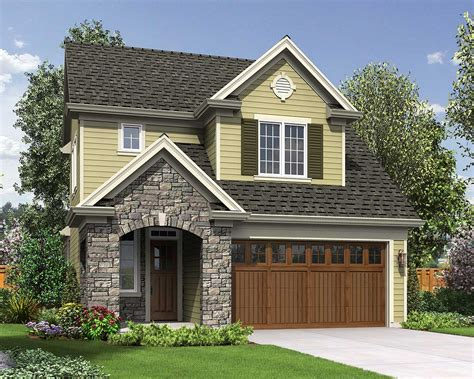 narrow lot traditional home plan 69546am architectural