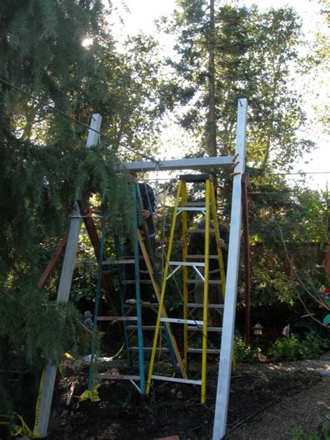 backyard zip line without trees zip line without trees barbara butler artist builder inc