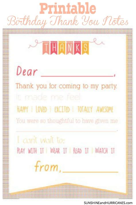thank you card template with lines printable birthday thank you notes gifts birthday