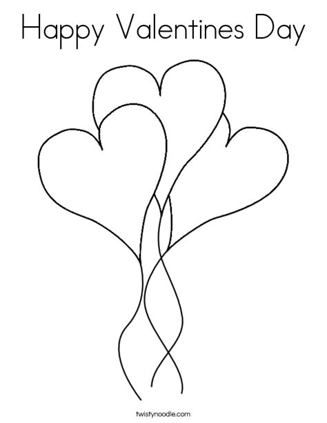 Happy Valentines Day Coloring Page Twisty Noodle Happy Valentines Day Coloring Page