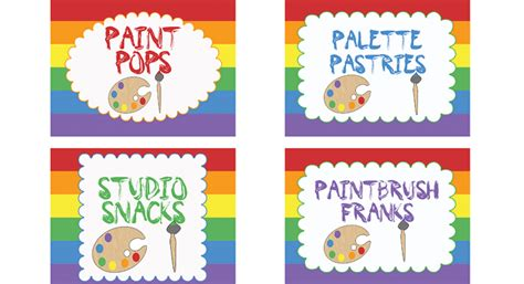 free printable art party invitations art party food labels art party for kids pbs parents pbs