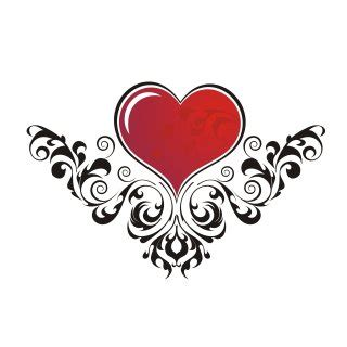 heart tattoo design clipart best