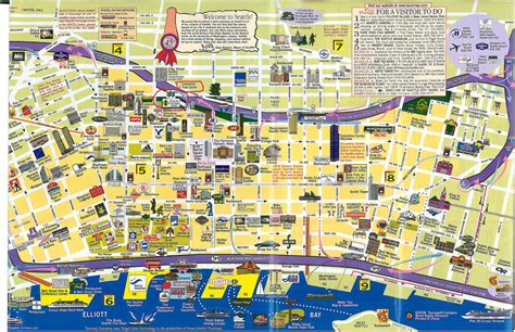 seattle map tourist seattle map 01 map of downtown seattle for those of you