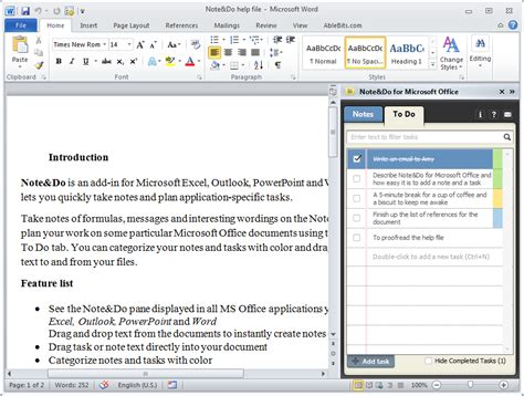 Office Notes Take Notes And Create Tasks In Excel Outlook Word Note