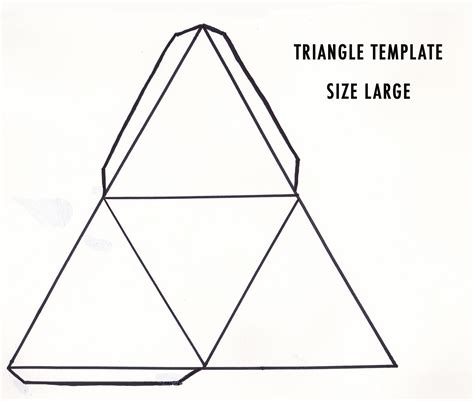 triangle card template diy 3d geometric sculpture make