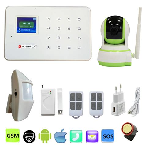 Jual Alarm Wireless Gsm gsm alarm system 99 wireless zones and ip wifi pir door detector app remotely anti thief