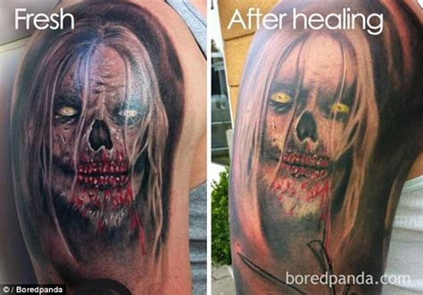 tattoo healing too light boredpanda users show tattoos faded in shocking photos