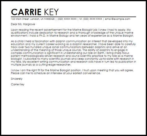 Scientific Cover Letter Examples - Writing A Cover Letter For Your