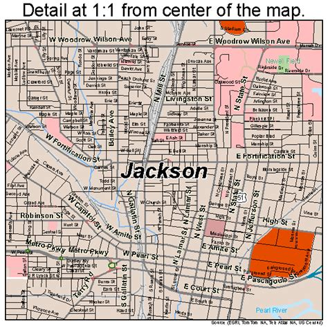 jackson map jackson mississippi map 2836000