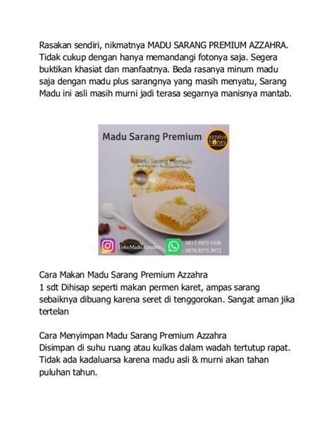 Madu Murni Plus Fresh Honeycomb wa 0878 8575 5072 jual madu dan sarangnya harga sarang