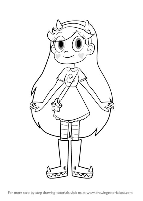 star butterfly coloring page learn how to draw star butterfly from star vs the forces