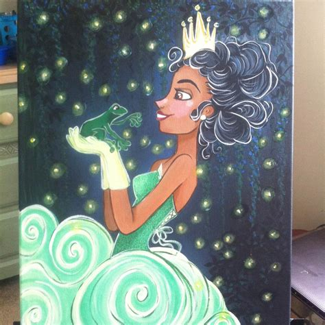painting of princess princess original acrylic canvas disney