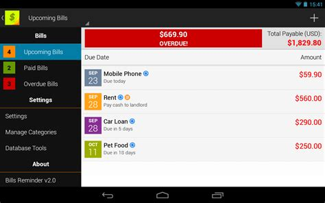 reminder app android bills reminder appstore for android