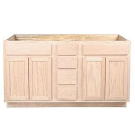 kitchen sink base unfinished oak 48 quot kitchen