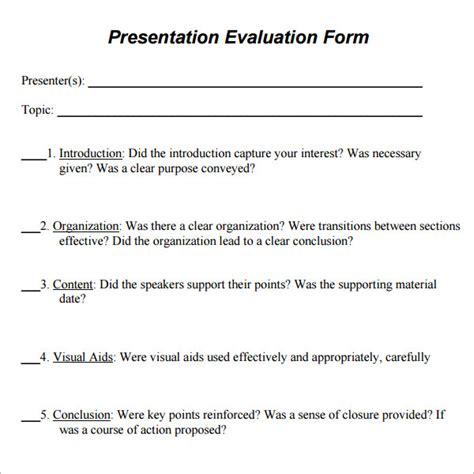 feedback form template free sample presentation survey questions on