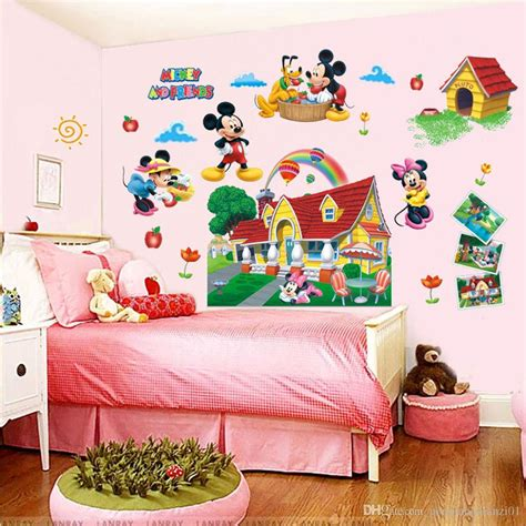 Mickey Mouse Nursery Decor Colorful Mickey Mouse Clubhouse Wall Sticker 3d Mural Mickey Mouse Baby Room Warehousemold