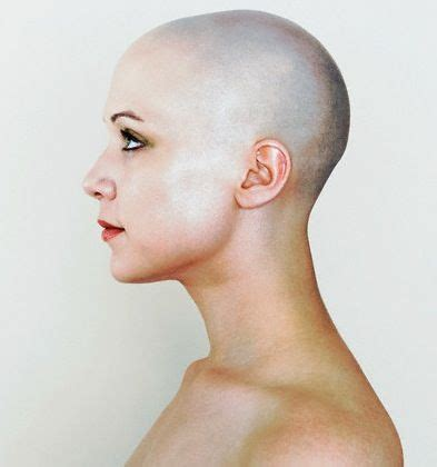 lady neck hair image result for side profile model bald drawing