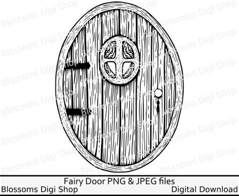 fairy door coloring page fairy door bundle gnome png digital download hand drawn