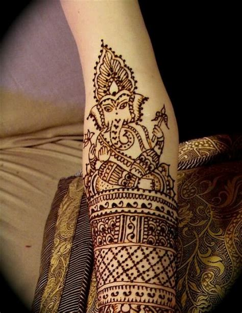 Ganesha Henna Tattoo   henna ganesha special effects makeup pinterest