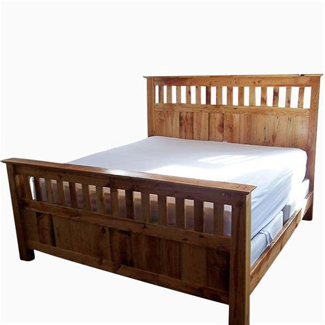 Buy A Handmade Vintage Reclaimed Wood Mission Style Bed Vintage Style Bed Frame