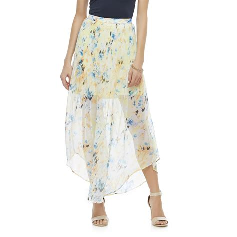 metaphor s pleated sheer maxi skirt abstract