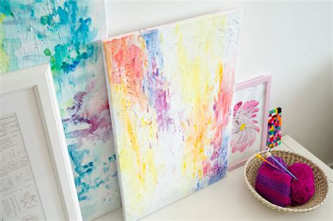 diy home painting ideen diy abstract watercolor painting tutorial paper
