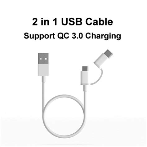 1m Kabel Zaxti Qc 3 0 Fast Charger Micro Sony Original Xiaomi Charging bakeey 2 in 1 qc 3 0 type c micro usb fast charging cable 1m for oneplus5 xiaomi6 mi a1 redmi