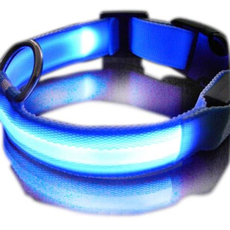 light up collar zehui new blue led safety collar light up w circular pendant