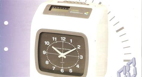 Mesin Absen Clock amano absensi amano bx 6000