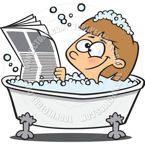bathtub cartoon cartoon woman reading newspaper in bathtub by ron leishman toon vectors eps 29742